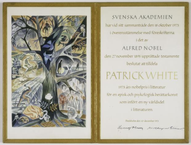 Нобелевский диплом Патрика Уайта